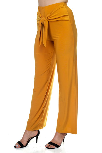 Wrap Waist Tie Pants - FitBeautyTrends