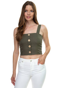 Exposed Back Sleeveless Cropped Top - FitBeautyTrends