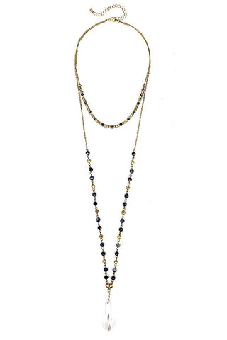 Fashion Modern Chic Crystal Drop Necklace - FitBeautyTrends