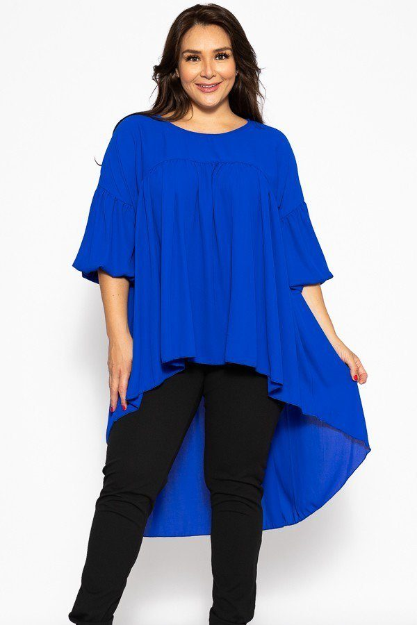 U Neckline Timeless High Low Top - FitBeautyTrends