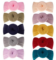 Baby Girl Nylon Headbands Newborn Infant Toddler Bow Hairbands Soft Headwrap Children Hair Accessories