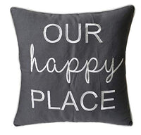 "DecorHouzz Pillowcase Farmhouse Embroidered Home Throw Pillow Cover Funny Quote Cushion cover for Housewarming Guest Porch Wedding Anniversary Couple (12""x20"", Sorry about the mess(Linen))"