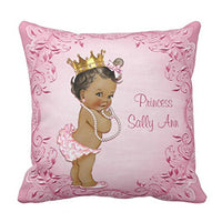Emvency Throw Pillow Cover Cute Baby Personalized Ethnic Princess Glamorous Vintage Girl Decorative Pillow Case Home Decor Square 16 x 16 Inch Pillowcase