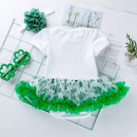 Euone Baby Clothes St. Patrick's Day Newborn Baby Girl Printed Romper Dress and Headbands Outfitfor 0-2 Years Old
