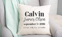 Qualtry Personalized Welcome Baby Throw Pillow Covers (Henry)
