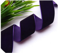 "2Yards/Lot 1""(25mm) Wide Velvet Ribbon Headband Clips Bow Wedding Decoration,12"
