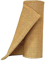 OZXCHIXU Jute Burlap Table Runner 12'' Wide x 10 Yards Long For Burlap Fabric Roll Perfect for Weddings, Table-Runners, Decorations & Crafts.