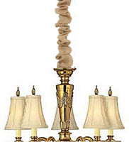 Upgradelights Import Chandelier Chain Cord Cover up Candelabra Wire Cover Natural Burlap