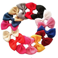 32pcs Baby Hair Bows Little Girl's chiffon Fabric Bows Hair Clips For Hair by Yazon