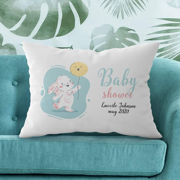 Center Gifts Personalized Baby Shower Pillow Case with Name