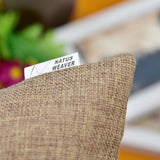 NATUS WEAVER Breathable Linen Burlap Lumbar Decor Square Throw Cushion Cover Pillow Sham for Living Room, 12 x 20 Inches,Brown