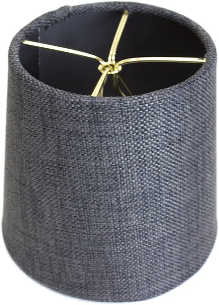 4x5x5 Granite Grey Burlap Drum Lampshade by Home Concept - Perfect for Chandeliers, Foyer Lights, and Wall sconces -Small, Grey
