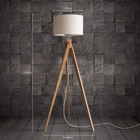 G-Floor lamp Stand Lights Creative Vintage Burlap Floor Lamp Living Room Bedroom Wood Table Lighting Vertical