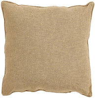 "VHC Brands Pillows 12"" x 12"" Woven Burlap Pillow in Tan"
