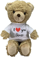 Customized I Love You Limited Edition! Big Teddy Bear Plush Toys with Personalized Name Best for Birthday or Special Days by CustomizedbyBilgin (Panda)