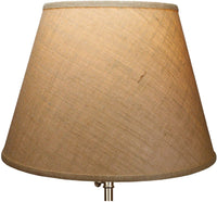 "FenchelShades.com Lampshade 11"" Top Diameter x 18"" Bottom Diameter x 13"" Slant Height with Washer (Spider) Attachment. for Use on Lamps with Harps (Burlap Natural)"