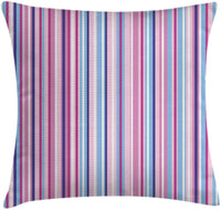 "Ambesonne Abstract Throw Pillow Cushion Cover, Vertical Striped Gradient Different Colored Lines Tile Bands Image, Decorative Square Accent Pillow Case, 20"" X 20"", Baby Pink Sky Blue"