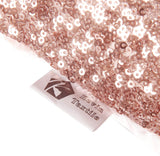 "Kevin Textile Sequins Decorative Luxurious Home Party Square Pillow Case Cushion Cover, 18""x18"", Hidden Zipper Design, 2 Cover Packs(Rosegold)"