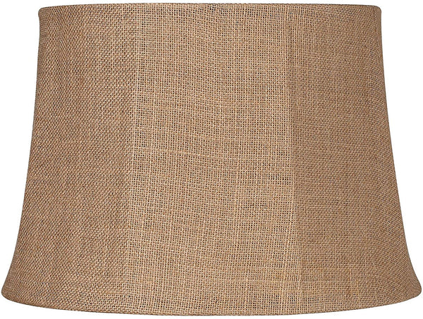 Natural Burlap Large Drum Lamp Shade 13x16x11 (Spider) - Brentwood