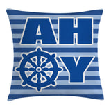 Ahoy Its a Boy Throw Pillow Cases Cushion Covers Home Decor 8 Sizes