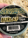 Fashion Burlap Duct Tape Turquoise Cheetah1.88 inches X 10 Yards NEW!