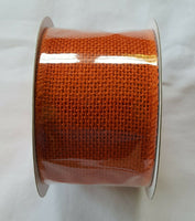 "NWT Burlap Ribbon Roll 2.5"" x 15' Fall Orange color for Crafts & Decorations"