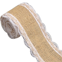 Hessian Rustic Burlap Sewing Ribbon Lace Trim Cotton Wedding Vintage Craft DIY
