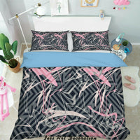 3D Pink Graffiti Stripes Quilt Cover Duvet Cover Comforter Cover Pillow Case 275