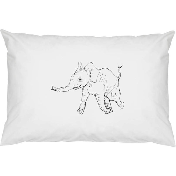 2 x 'Baby Elephant' Cotton Pillow Cases (PW00005788)