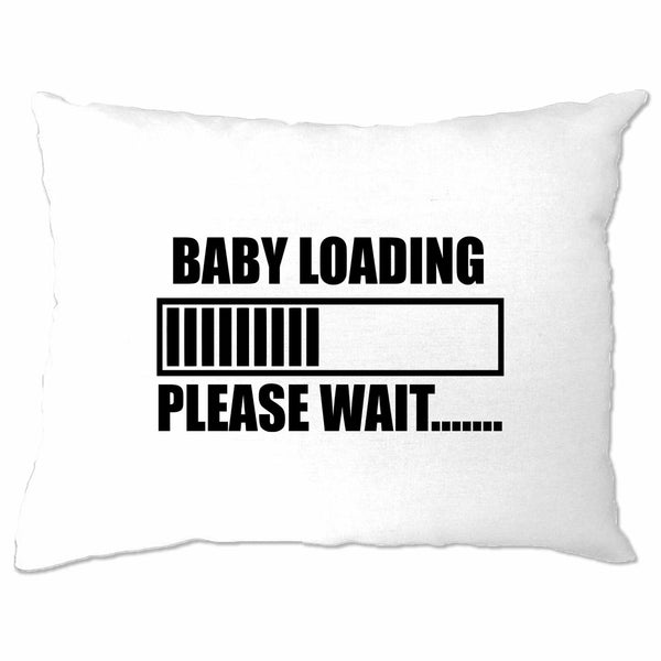 Novelty Pillow Case Baby Loading Bar Please Wait Computer Nerds Geek Pregnancy