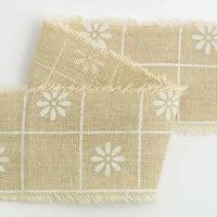 Burlap Shabby Chic Frayed Edge Natural Vintage Wedding Craft Ribbon 50mm x 10m
