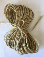 6mm 5/10m Natural Jute Twine String Hessian Craft Burlap Rustic Organic Art