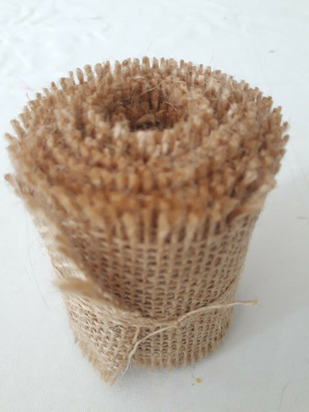 Natural Burlap Jute Hessian Ribbon Roll For Weddings Or Any Decor (2m)