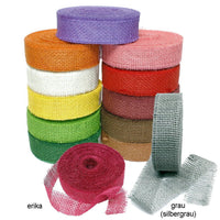 Jute Band Coloured, 40mm Wide - 25 Meter