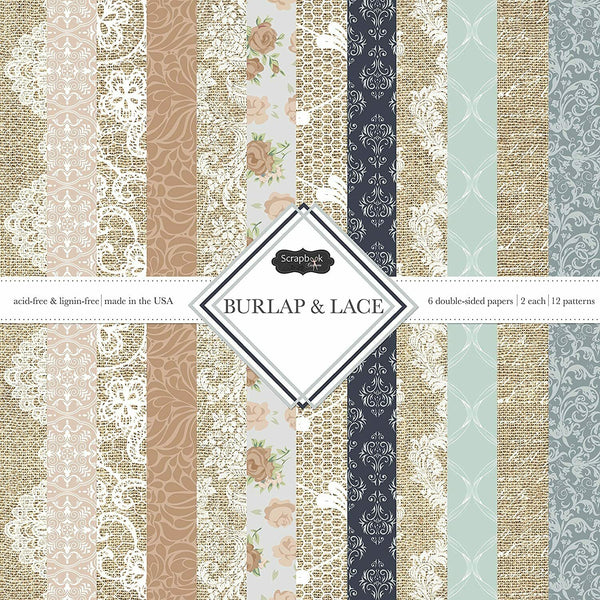 Scrapbook Customs Scrapbook Customs Themed Paper Scrapbook Kit, Burlap & Lace,