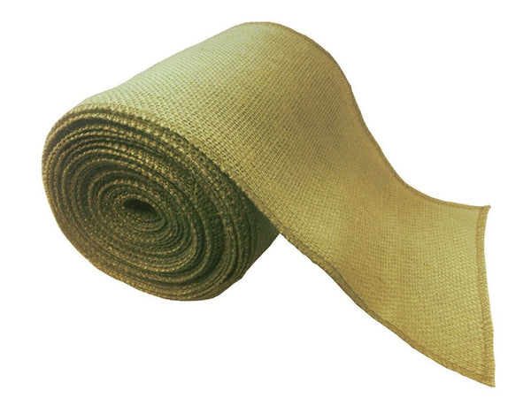 "6"" Burlap Ribbon 10 Yard Roll With Sewn Edge - 27 Color Choices"
