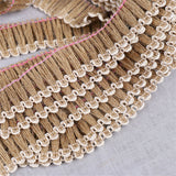 5 Meters Jute Hemp Tassel Ribbon DIY Craft Trim Party Favor Decoration BCS3-7 E