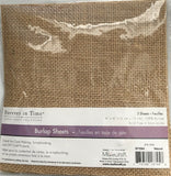 "Forever In Time MultiCraft Burlap Sheets, 6 sheets, 6"" x 6"""