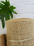 5.5 Inches Wide 30 Feet Long Woven Burlap Craft Trim Roll - Natural