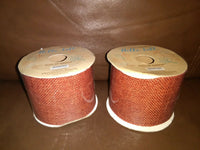 2.5in Burlap Orange Ribbon 6 yards long