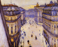 GUSTAVE CAILLEBOTTE RUE HALEVY SEEN FROM THE SIXTH FLOOR ARTIST PAINTING CANVAS