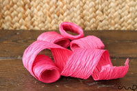 12 x Mixed Colour Mulberry Paper Ribbon Roll (15M) Paper Craft Ribbon 5cm Eco