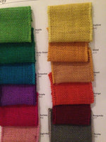 "4"" Wired Burlap Ribbon - 10 yards - Craft Supplies- Made in USA -Pick Color"