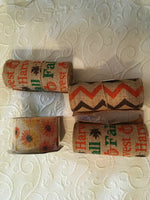 LARGE LOT OF FALL BURLAP RIBBON For Wreaths and Crafts