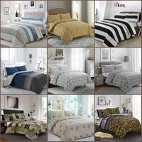 Spring Linen 100% Pure Cotton Printed Duvet Cover Sets Bedding Sets in All Sizes