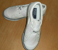 POLO BY RALPH LAUREN BOY'S ALL WHITE SNEAKERS BOYS SIZE 2 FLOOR SAMPLE