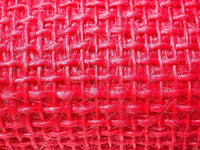 Decorative Ribbon 2-3/4 in W, 10 ft L, Hot Pink, Burlap/Jute
