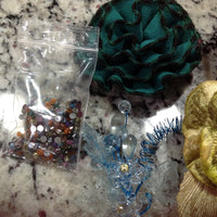 CRAFT SUPPLIES Mix Lot #11 Red Burlap Ribbon, Paper & Silk Flwrs Buttons Bling +
