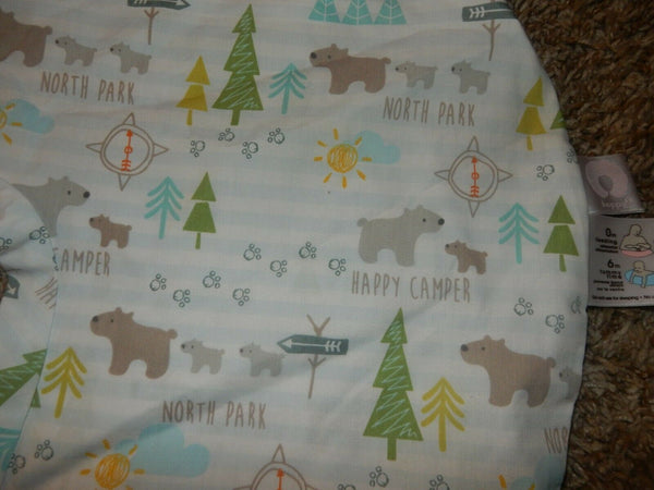 LN BOPPY Happy Camper North Park Cotton Blend Pillow Case SlipCover Camping Boys