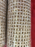 Lot Of 4 Gold Decorative Christmas Holiday Craft Finished Edge Burlap Fabric NEW
